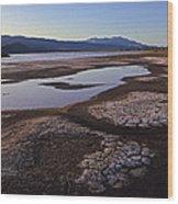 Borax Lake Wood Print