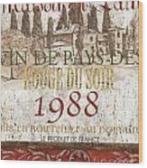 Bordeaux Blanc Label 1 Wood Print