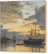 Bordeaux In The Harbor Wood Print
