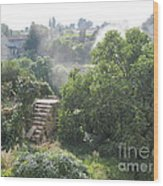 Bordeaux Village Cloud Of Smoke  Wood Print
