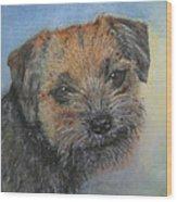 Border Terrier Jack Wood Print