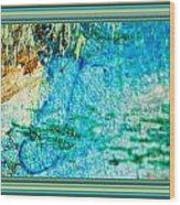 Borderized Abstract Ocean Print Wood Print
