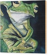 Boreal Flyer Tree Frog Wood Print