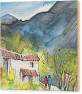 Borgo In Italy 01 Wood Print