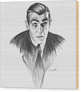 Boris Karloff Wood Print