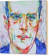 Boris Vian - Colored Pens Portrait Wood Print