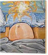 Rising Sun Wood Print