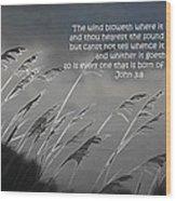 Born Of The Spirit Wood Print
