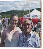 Borsos Anna Ruzsan With Sir Stirling Moss 2012 Wood Print