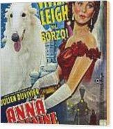 Borzoi Art - Anna Karenine Movie Poster Wood Print