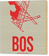 Bos Boston Airport Poster 1 Wood Print