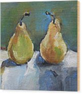 Bosc Pears Wood Print by Becky Kim