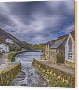 Boscastle Harbour Wood Print