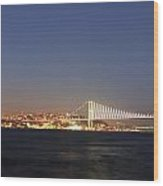 Bosphorus Bridge Night Wood Print