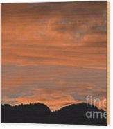 Bosque Del Apache Sunset  Wood Print