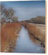 Bosque Del Apache Wetlands- New Mexico Wood Print