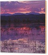 Bosque Sunset - Purple Wood Print