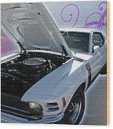 Boss 302 Mustang Wood Print