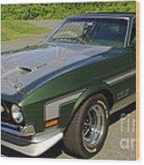 Boss 351 Mustang Wood Print