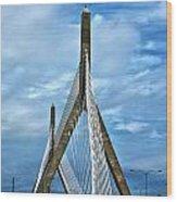 Boston Bridge Wood Print by Melanie McKinney