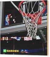Boston Celtics' Basket Wood Print