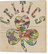 Boston Celtics Poster Art Wood Print