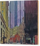 Boston City Centre 2 Wood Print by Yury Malkov