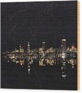 Boston City Skyline 2 Wood Print