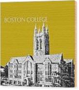 Boston College - Gold Wood Print