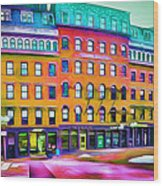 Boston Colors 1 Wood Print by Yury Malkov
