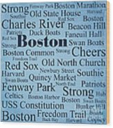 Boston Wood Print