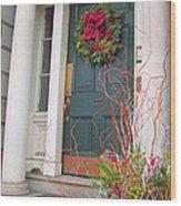 Boston Doorway Two Wood Print