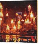 Boston Fireworks  Firepower Wood Print