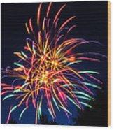 Boston Fireworks Wood Print