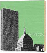 Boston Hancock Tower - Sage Wood Print