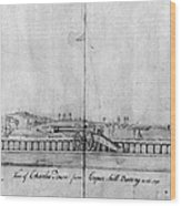 Boston Harbor, 1778 Wood Print