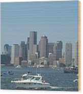 Boston Harbor July Fourth Wood Print