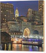 Boston Harbor Party Wood Print