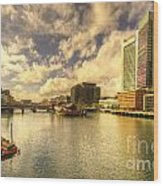 Boston Harbour  Wood Print