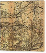 Boston Hoosac Tunnel And Western Railway Map 1881 Wood Print