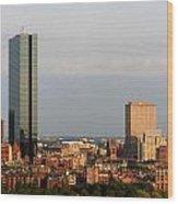 Boston John Hancock Tower Skyline Wood Print