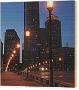 Boston Lights Wood Print