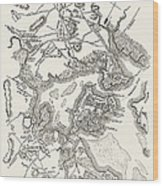 Boston: Map, 1775-1776 Wood Print