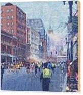 Boston Marathon Angels Wood Print