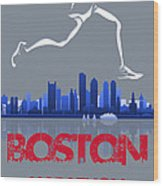 Boston Marathon3 Wood Print