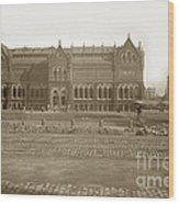 Boston Museum Of Fine Art On Copley Square Massachusetts Circa 1900 Wood Print