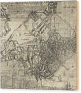 Boston Of British Dominion Map  1769 Wood Print