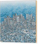 Boston Panorama Abstract 2 Wood Print
