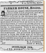 Boston Parker House Wood Print