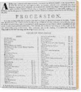 Boston Procession, 1789 Wood Print